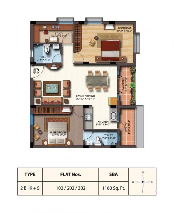 SSV Coral, Bangalore - Floor Plan