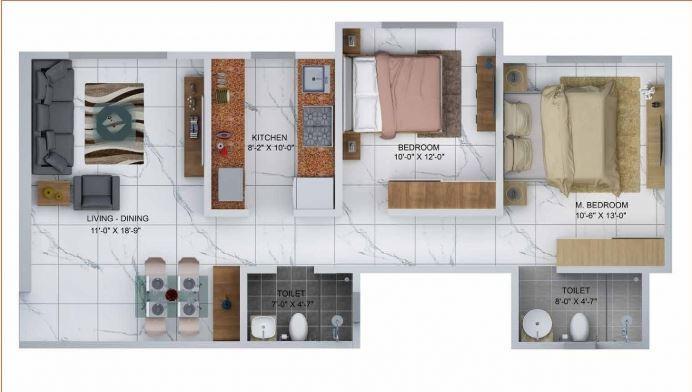 Sheth Avante, Mumbai - Floor Plan