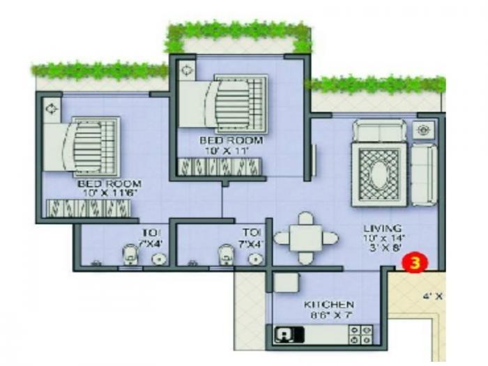 Sanghvi Paradise, Mumbai - Floor Plan