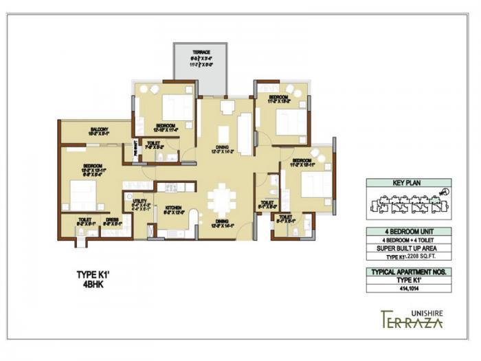 Unishire Terraza, Bangalore - Floor Plan