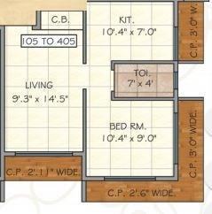 Dev Entilla, Mumbai - Floor Plan