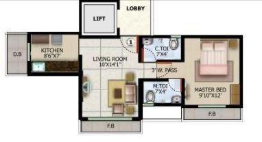 Mahaveer Solitaire Paradise, Mumbai - Floor Plan