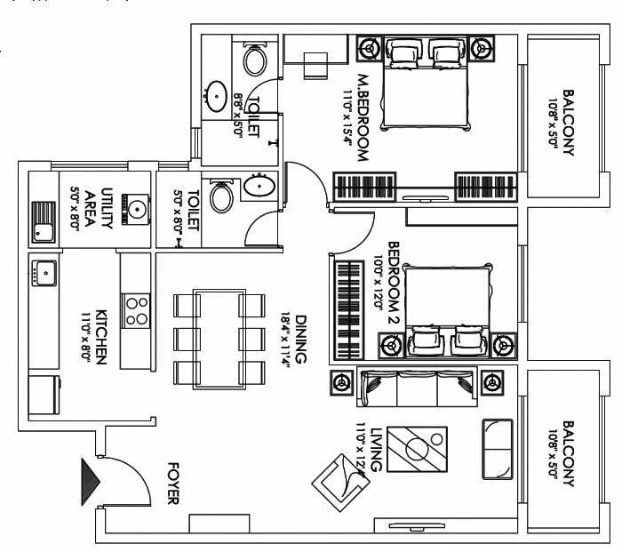 Magnum Taran Enclave, Bangalore - Floor Plan