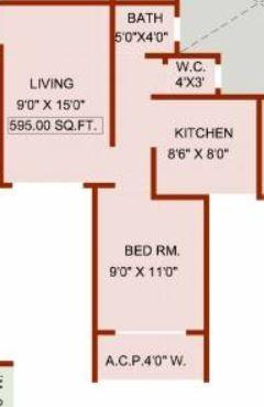 Yashraj Nagar Manjiri Heights, Mumbai - Floor Plan