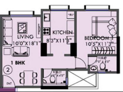 Kanakia Sevens, Mumbai - Floor Plan