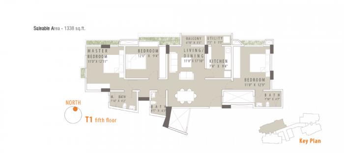 Universal Nivasa Apartment, Bangalore - Floor Plan