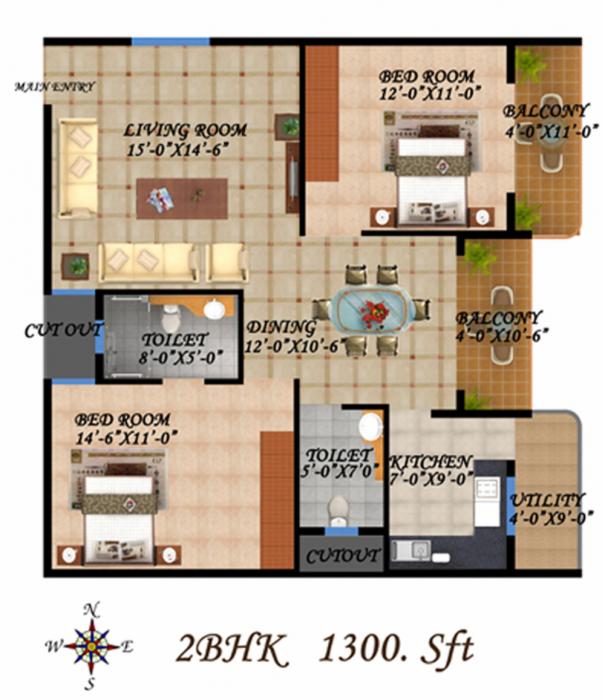 Max Sunflower, Bangalore - Floor Plan