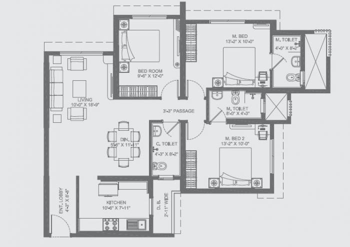 NL Aryavarta , Mumbai - Floor Plan