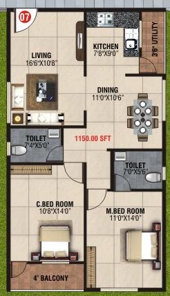 BM Mystic Greens, Bangalore - Floor Plan