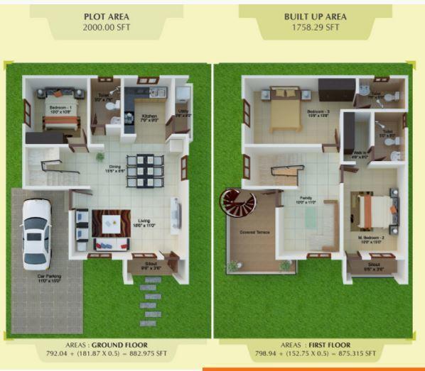 Peninsula Prakruthi, Bangalore - Floor Plan