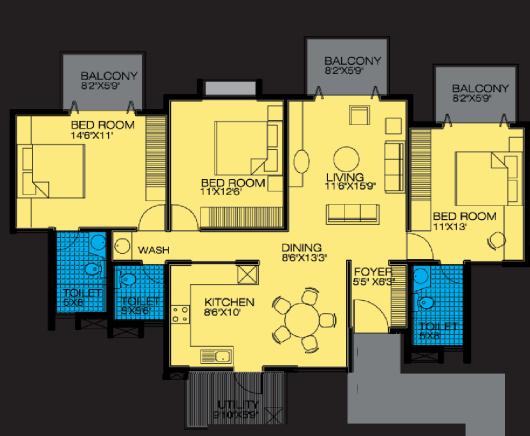Alpine Pyramid, Bangalore - Floor Plan