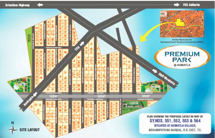 Srika Premium Park In Hyderabad Amenities Layout Price