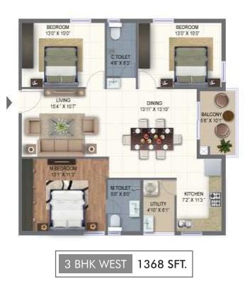 Ramky One Marvel, Hyderabad - Floor Plan