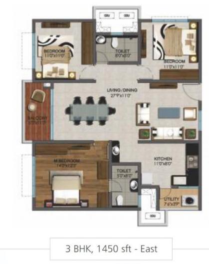 Marina Skies, Hyderabad - Floor Plan
