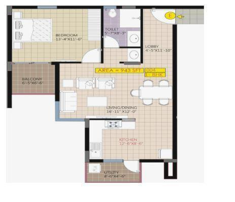 Raja Ritz Avenue, Bangalore - Floor Plan