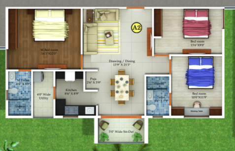 Fortuna Blue Wings, Bangalore - Floor Plan