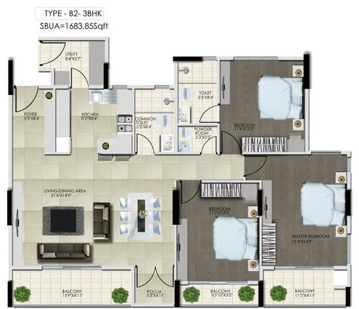 Mythreyi Ameyavana, Bangalore - Floor Plan