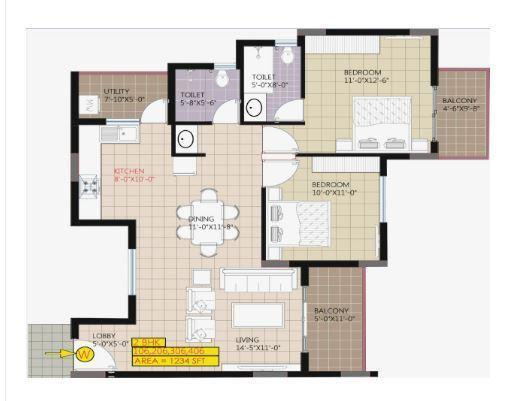 Raja Ritz Avenue, Bangalore - Floor Plan