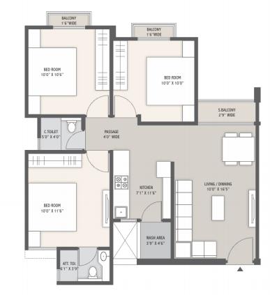 Narayan Aangan, Vadodara - Floor Plan
