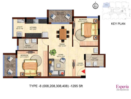 Axis Experia, Bangalore - Floor Plan