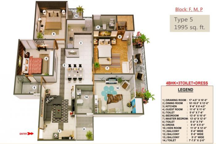 Proview Officer City, Ghaziabad - Floor Plan