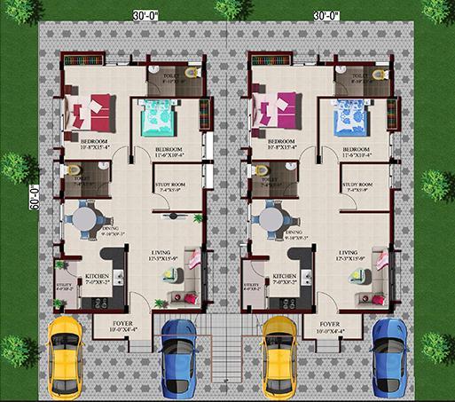 Avigna Celeste Villas, Chennai - Floor Plan