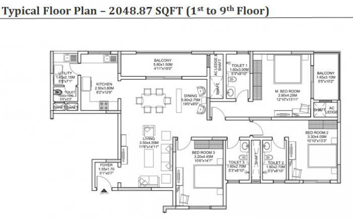 Sobha Morzaria Grandeur Phase II, Bangalore - Floor Plan