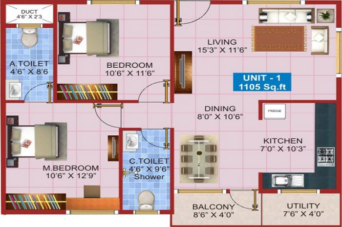 Shivaganga Elegance, Bangalore - Floor Plan