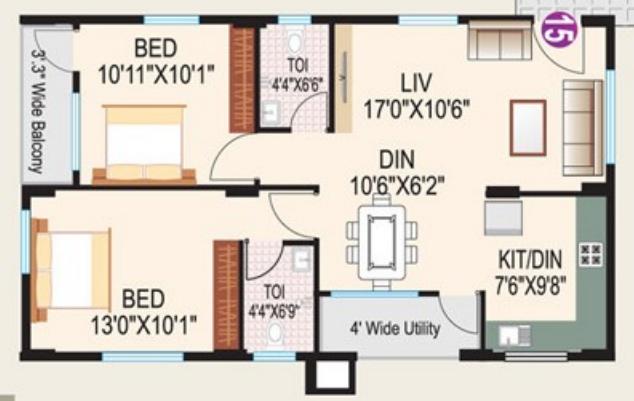 Hita Malibu Rosita, Bangalore - Floor Plan