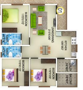 DSMax Spark Nest, Bangalore - Floor Plan