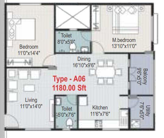 Arna Meadows, Bangalore - Floor Plan