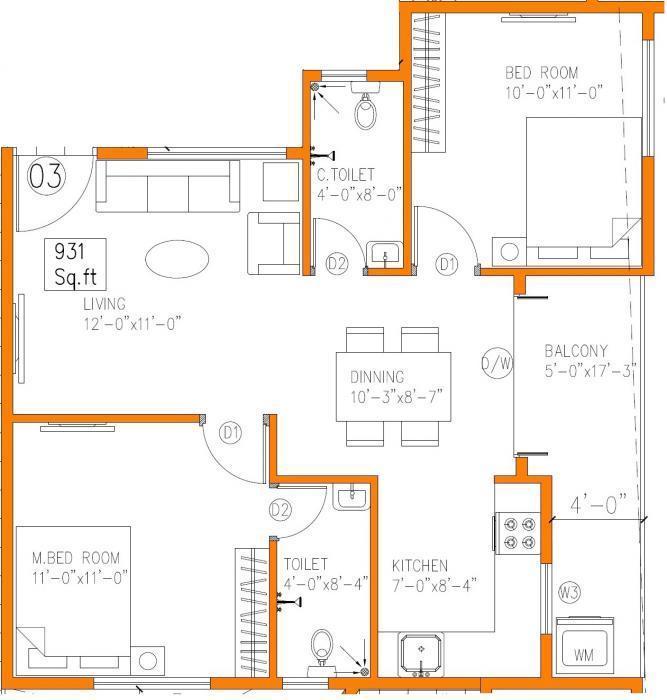 Saritha Elan, Bangalore - Floor Plan