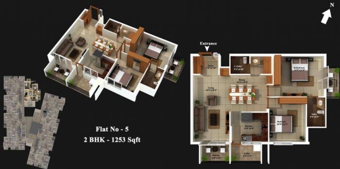 Mahabaleshwara Classique Pearl, Mangalore - Floor Plan