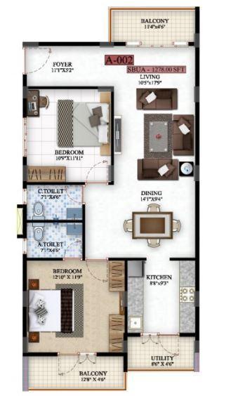 Saibya Sterling, Bangalore - Floor Plan