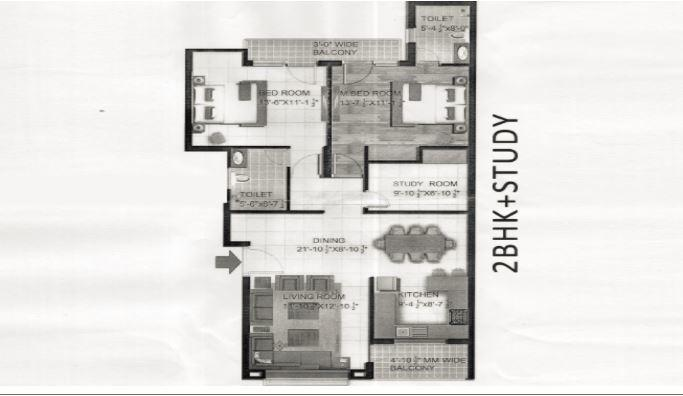 Paarth Gardenia Residency, Lucknow - Floor Plan