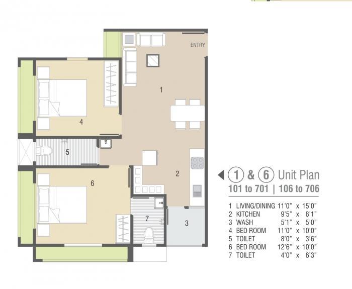 Shyam Padmavati Residency, Ahmedabad - Floor Plan