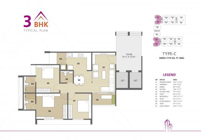 Binori Pristine, Ahmedabad - Floor Plan