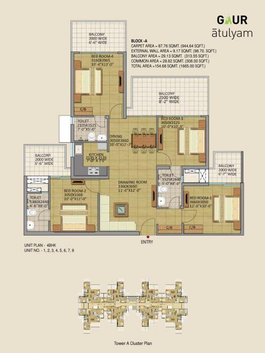 Gaur Atulyam, GreaterNoida - Floor Plan