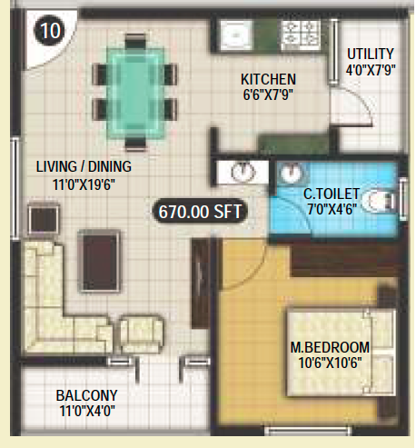 SNR Verity, Bangalore - Floor Plan