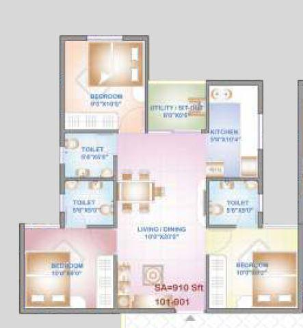 Aryan Golden Arena, Bangalore - Floor Plan