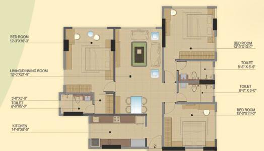 Milestone Mahavir Aquila, Mumbai - Floor Plan