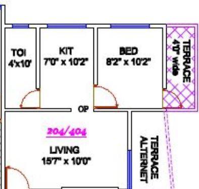 Om Kasturi Apartment, Pune - Floor Plan