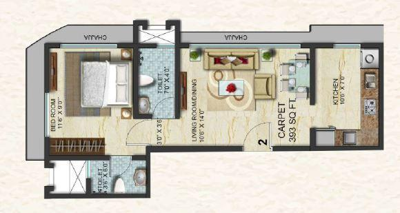 Swaroop Marvel Gold, Mumbai - Floor Plan