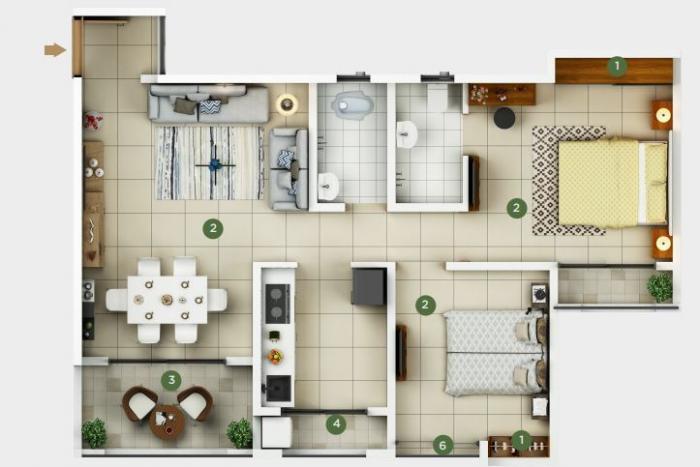Concept Arena, Mumbai - Floor Plan