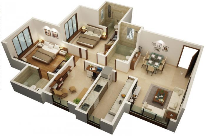 Chaitanya Jeevan Kanchan, Mumbai - Floor Plan