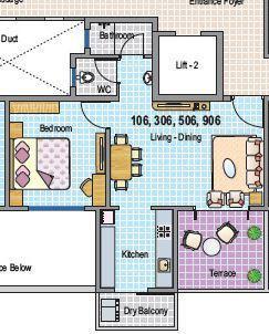 Gurukrupa Primerose, Pune - Floor Plan