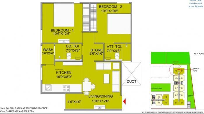 Bakeri Samyaka Apartments, Ahmedabad - Floor Plan