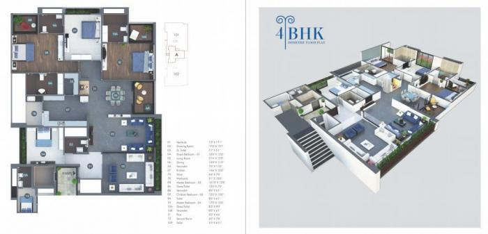 Sheetal Aqua, Ahmedabad - Floor Plan