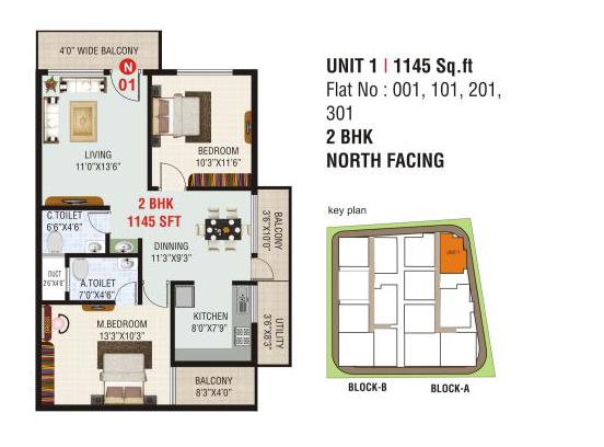 Tulasi Premier, Bangalore - Floor Plan