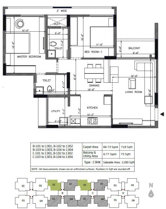 Orchid Greens, Bangalore - Floor Plan
